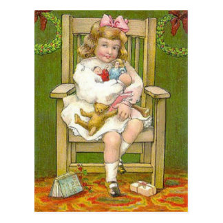 Christmas Dolls Postcard