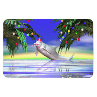 Christmas Dolphin Magnets