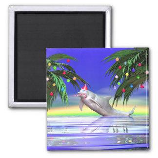 Christmas Dolphin Fridge Magnets