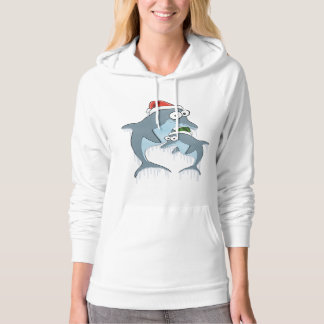 Christmas Dolphins Hoodie