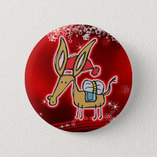 Christmas Donkey 6 Cm Round Badge