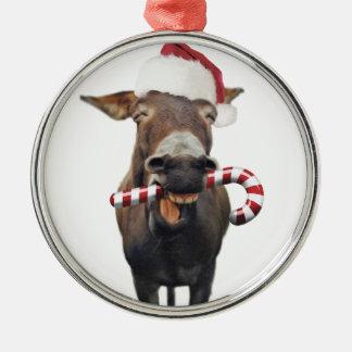Christmas donkey - santa donkey - donkey santa christmas ornament