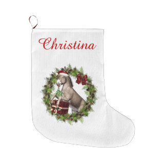 Christmas Donkey Santa Personalized Stocking