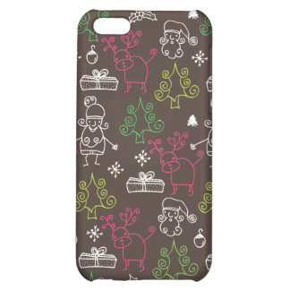 Christmas doodles pattern iphone case case for iPhone 5C