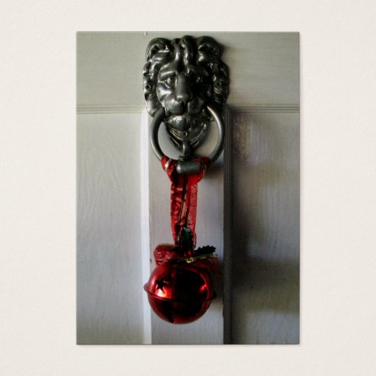 Christmas Door Knocker Business Card
