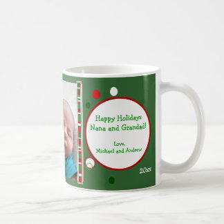 Christmas Dots Personalized Photo Mug
