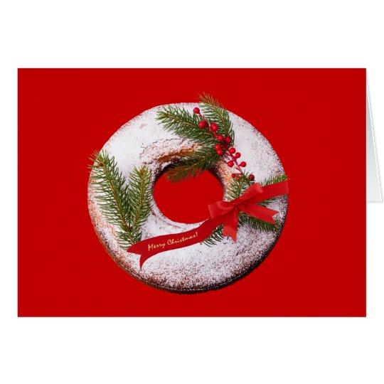 Christmas Doughnut Card