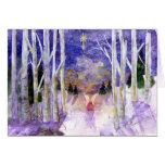 Christmas Dove Angel Greeting Card