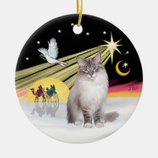 Christmas Dove - Ragdoll Cat (Lynx Colorpiont) Christmas Ornament