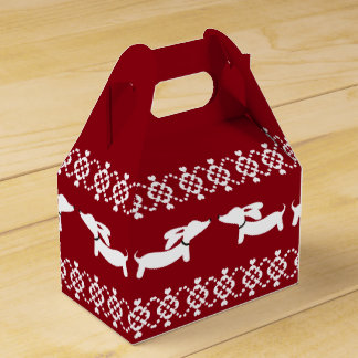 Christmas Doxie Gift Box Fair Isle Ugly Sweater