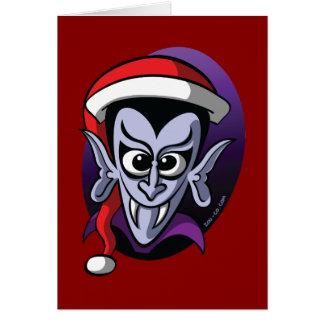 Christmas Dracula Card