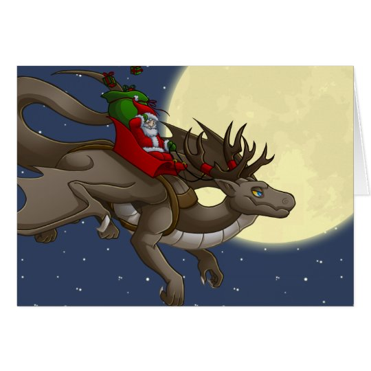 Christmas Dragon Greeting Card