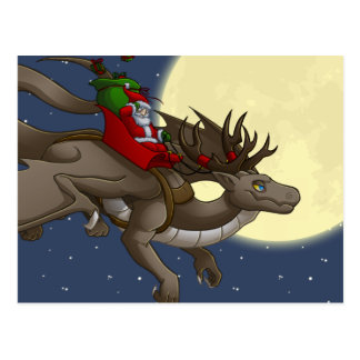 Christmas Dragon Postcard