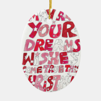 Christmas Dreams and Wishes Ceramic Oval Decoration