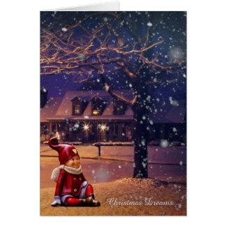 Christmas Dreams Elf Holiday Card