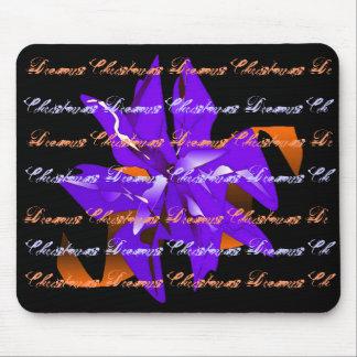 Christmas Dreams In Blue Poinsettia I Mousepad