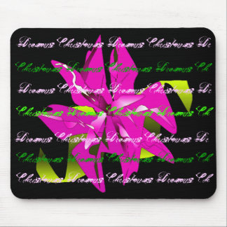 Christmas Dreams In Pink Poinsettia Mouse Pad