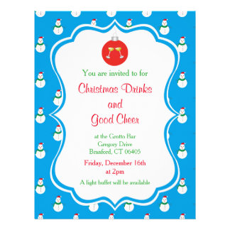 Christmas Drinks & Good Cheer Invitation Flyer