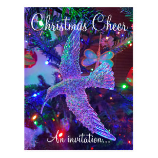 Christmas Drinks postcard invite