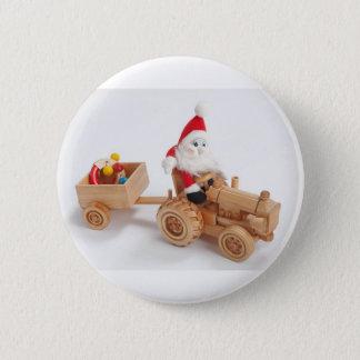 Christmas driver 6 cm round badge
