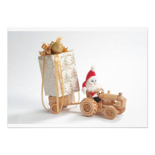 Christmas driver personalized invitation