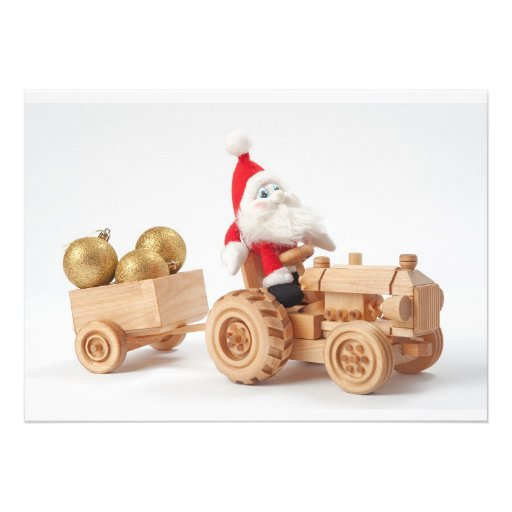 Christmas driver personalized invitations