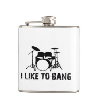 Christmas drummer drum drums drumming like to bang hip flask