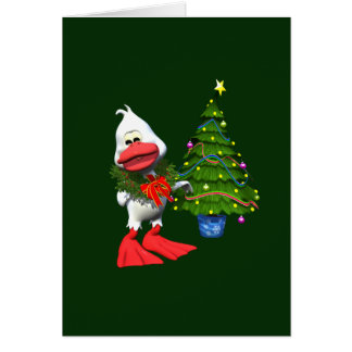 Christmas Duck Greeting Card