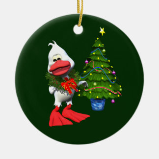 Christmas Duck Christmas Ornament
