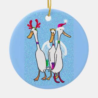 Christmas ducks christmas ornament