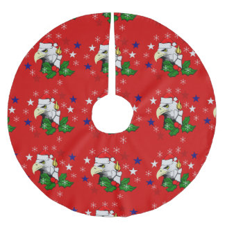 Christmas Eagle Brushed Polyester Tree Skirt