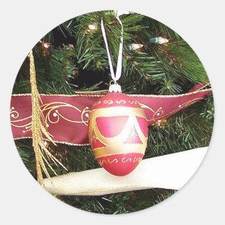 Christmas Egg Round Sticker