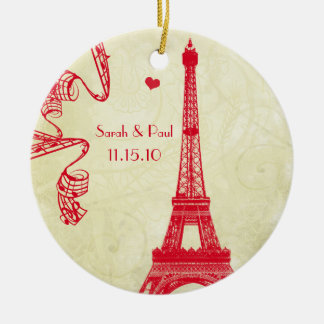 Christmas Eiffel Tower Christmas Ornament