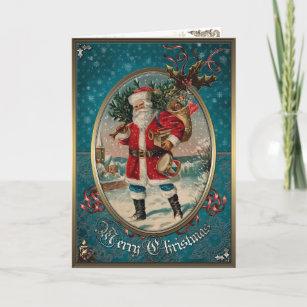 Christmas Elegance Card - Wonderful Santa Claus.