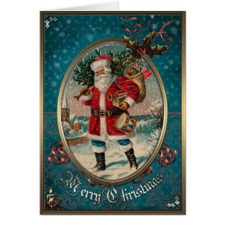 Christmas Elegance Card - Wonderful Santa Claus.