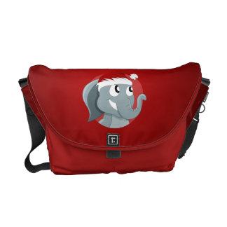 Christmas elephant cartoon messenger bag