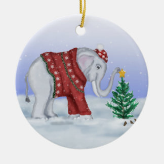 Christmas Elephant Ornament