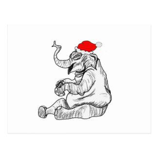 Christmas Elephant Postcard