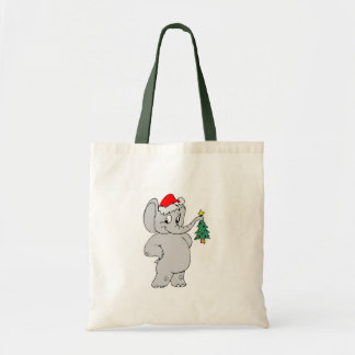 Christmas Elephant Tote Bag