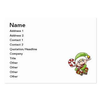 Christmas elf cartoon pack of chubby business cards