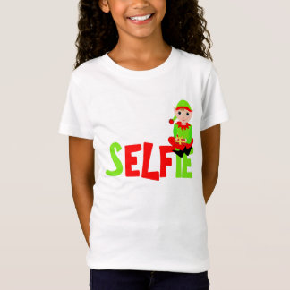 Christmas Elf Cute Funny Selfie Graphic T-Shirt