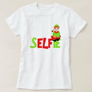 Christmas Elf Cute Funny Selfie Graphic T-Shirt