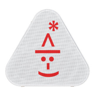 Christmas Elf Emoticon Xmas ASCII Text Art Bluetooth Speaker