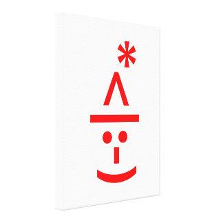 Christmas Elf Emoticon Xmas ASCII Text Art Stretched Canvas Prints