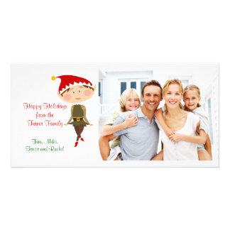Christmas Elf Family Photo Card