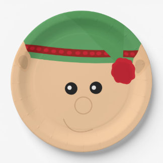 Christmas Elf Festive Paper Plates 9 Inch Paper Plate