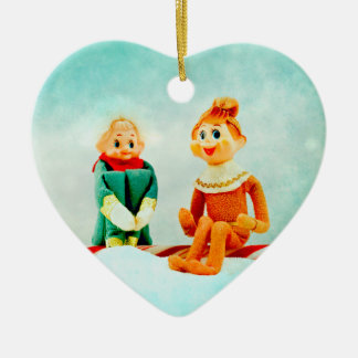 Christmas Elf First Date Christmas Ornament