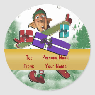 Christmas elf gift tag cute