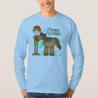 Christmas elf Holiday mens t-shirt