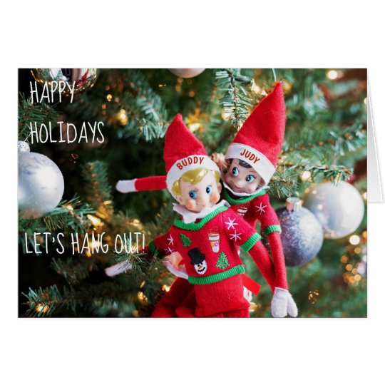 christmas elf holiday sweater customisable card 2
